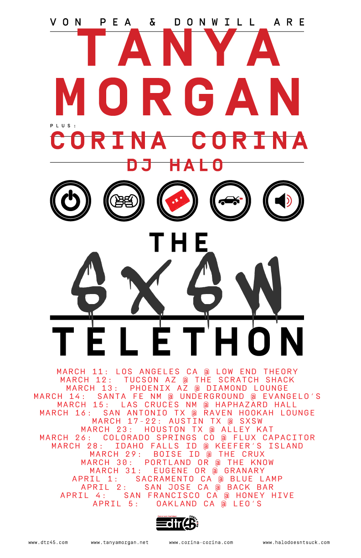 The SXSW Telethon Tour Poster 2015 2:27 UPDATE