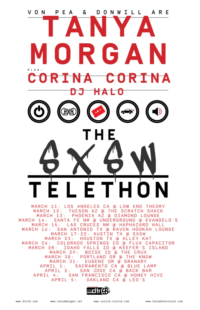 The SXSW Telethon Tour Poster 2015 2:27 UPDATE